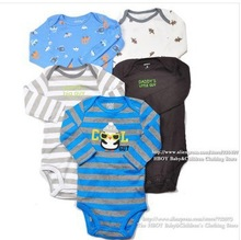 5pcs/lot baby boy long sleeve cotton bodysuit newborn carters body original girls jumpsuit for newborn baby clothing ropa bebe(China (Mainland))