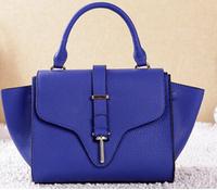 Genuine leather bags for women smiley high quality shoulder Bags Cowhide women's handbag women messenger bags 2014 NEW handbags