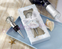 Free shipping 30box Shell Bottle Stopper Wedding Favors WJ037/B