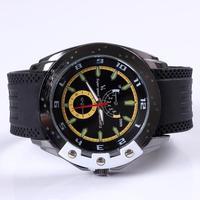 2014 fashion Japan quartz movement men's pu silicone band military watch outdoor sports casual wristwatch