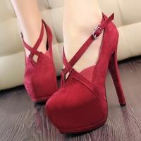 New summer 2014 fashion sexy high platform red bottom high heels open toe women pumps free shipping