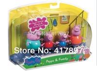 Plastic Pepa Peppa Pig Toys Dolls Daddy Mummy Pig George Peppa Pig Family Set New Product Hot Sale