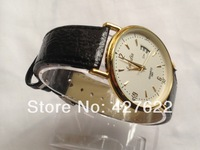 HOT wholesale mens watches top brand luxury military quartz leather strap day date president watches