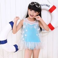 New Frozen Children Kids Girls Frozen Swimsuit One Pieces Swim Bodysuit Frozen Anna and Elsa Swimsuit Swimwear Free Shipping