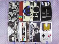 1 x Digital Camera Cassette Tape Skul Hard Back Case For Samsung Galaxy S5 i9600