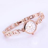 Famous brand watches women luxury watch rose gold heart shape with diamond ladies chain bracelet jewelry wristwatch