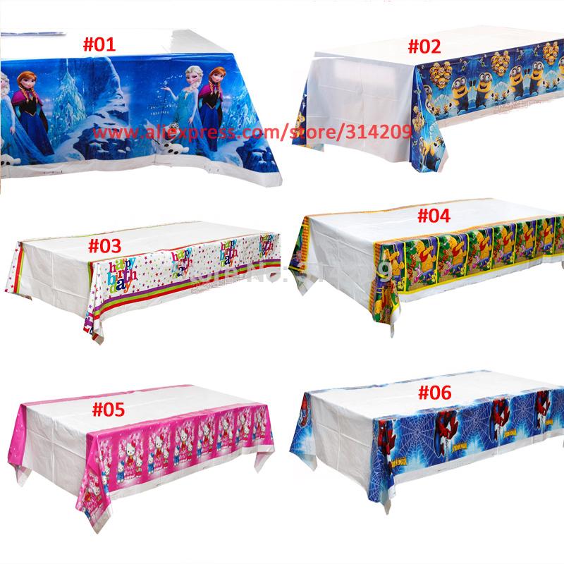 1pcs 120x178cm Cartoon Tablecloth Child Kids Birthday Party Decor(China (Mainland))