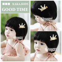 10pcs/lot Golden cloth crown hairpin Children hair accessories