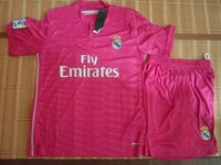 2014 2015 top quality real madrid pink csoccer jerseys Real Madrid pink soccer uniform soccer jerseys football jerseys&short