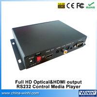 Full HD Push Button Optical&HDMI output RS232 Control USB SD car dvb-t analog to digital tv converter