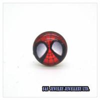 New Men's Women's  Pair Stainless Steel Spiderman Face Post Stud Earrings, Free shipping,E#044