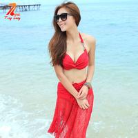 New Style Sexy Bikini 3 Piece Set Swimwear Trigonometric Female Tinglang AY01
