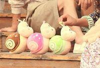 4pcs/lot Wedding dolls plush toys doll small snail creative children small toys doll wedding ceremony ritual items L091