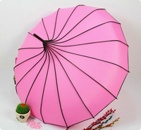 Wholesale 9pcs single dot pagoda shaped umbrellas UV princess umbrella Free shipping