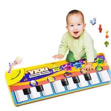 Hillsionly nuovo tocco giocare tastiera musicale musica canto palestra tappeto tappeto miglior bambini bambino regalo spedizione gratuita& commerci all'ingrosso(China (Mainland))