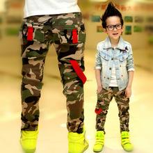 Retail New 2014 Autumn Jeans For Boy Camouflage Baby Boys Jeans Designer Kids Jean Children's Elastic Waist Denim Long Pant!2-8Y(China (Mainland))