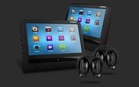 "2* 9"" Luxury Slimmest HD Touch Screen Headrest Car Monitor Headrest Car DVD with 2 IR Headphones"