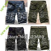 New 2014 Fashion Spring Summer Shorts Men Loose Casual Cargo Shorts Large Yard Fifth Multi-pocket Shorts Men