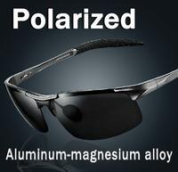 Male Sunglasses Polarized Gafas Aluminum Magnesium Alloy Polaroid Sunglasses Men Women Brand Designer Driving Oculos 8177