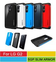 A+++ Quality SGP SPIGEN Slim Armor Case For LG Optimus G2 D802 Mobile Phone Case With Retail Package 8 Colors Wholesale 50pcs/l