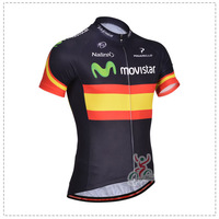 SWODART Hot bicycle wear custom from 1 piece! 2014 bicicleta clothes short sleeve for men in summer season -Movistar