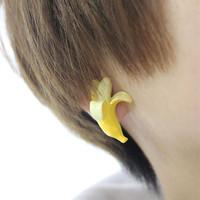 Min order 5$ Freeshipping(mix order)HOT Banana earrings Soft zipper HARAJUKU amo ayumi fashion and personality S0552