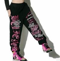 new 2014 Women Casual Hip hop Loose pants Jazz dance pants fashion harajuku hip hop pants punk sportswear sport pants
