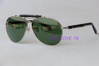 Fashion bamboo sun glasses large metal sunglasses pilot sunglasses elegant anti-uv
