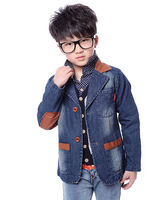 New listing spring autumn male child spring denim clothing, fashion children's stitching denim coat, denim jacket