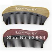 for girls' birthday gift violet Green Sandalwood  oxhorn comb