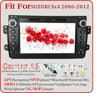 A5 8 inch  car dvd fit for Suzuki SX4 2006 2007 2008 2009 2010 2011 2012  bluetooth  radio tv   gps  ipod  3G WIFI  optional