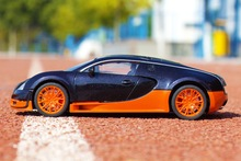 Free shipping Bugatti Veyron 1:18 Diecast static model home furnishings collection gift Christmas gift children toy car(China (Mainland))
