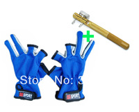 HOT!!winter feeder fishing accessories set 2pcs/lot =Fishing gloves 1pair +Fishing Hooks Tie Device 1PCS for fly fishing