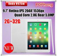 9.7''Onda V975M Tablet PC 2G RAM Android 4.3 Quad Core Amlogic M802 Cortex A9 2.0GHz WiFi 32G ROM