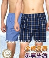 free shipping High Quality 3 pieces/lot 100% cotton  men's underwear boxer men's shorts trunks