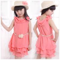 Retail princess 2014 summer 1pcs baby girls dancing clothing princess children tutu kids dress 5~14age