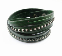 S054/ new arrival multi-color cowhide bracelet with high quality ,fashion men's jewelry ,wholesale price