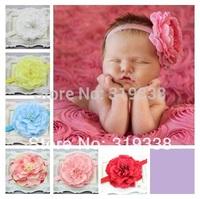 Baby girls flower headband Large peony headband Boutique headband photography prop 12pcs HB192