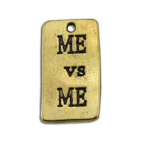 Best Selling Free Shipping Antique Silver 50pcs 1 lot Vintage Rectangle Me Vs Me Pendant Charms Letter Jewelry