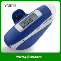 Top Fasion Led Flashlight Pedometer Multi function With Led Torch Siren Pedometers HAPTIME Free Shipping  YGH706