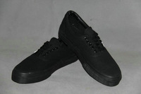 Classic black low help shoes black men and women lovers all canvas shoes