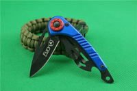 Free shipping BULE Camouflage Small Full steel handle 44C0 56HRC MINI small folding Pocket knife Camping tools free ship