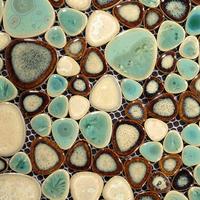 Porcelain mosaic tiles swimming pool bath flooring wall coverings interior glaze pebble heart shape free sample backsplash tile