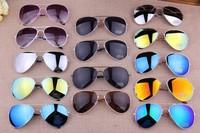 Min.order is $5(mix order) New 2014 Fashion Vintage Coating Sunglasses Brand Designer Men Women Sun Glasses 80136