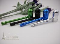 Free shipping 5pcs/lot Fashion rasta Metal Pipe With Lid Smoking Pipes 5colors