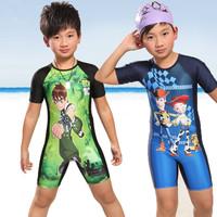Free shipping for 5-13yrs, Sunsafe swimwear one piece beachwear, Older boy' swimming wear, Kids swimsuit, Children costume