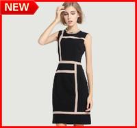 NEW ARRIVAL 2014 WOMEN Fashion Plus Size Clothing Fabric Autumn One-piece Dress Elegant