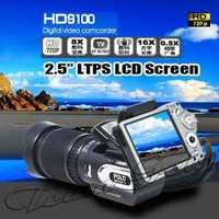 "HD9100 POLO SHARPSHOTS 16.0MP CMOS Digital Video Camera 2.5"" LTPS LCD 720P HD Camcorder 8X Digital Zoom HDTV DVR remote control"