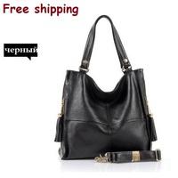 Factory sales campaign 2014 new cow leather bags, leather shoulder bag, ms vintage leather messenger bag, brown, black wholesale