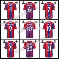 2014-15 UEFA Champions League Thailand Quality Home red and blue ROBBEN MULLER GOTZE Schweinsteiger Soccer Jersey ,UCL+Respect